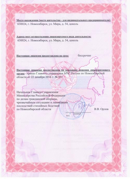 Лицензия МЧС 2016 стр. 2